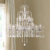 ESSENCE HOME DECOR Chrome and Crystal Chandelier