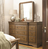 UNIVERSAL New Lou - Louie P's Sleigh Bedroom Set - Dresser and Mirror