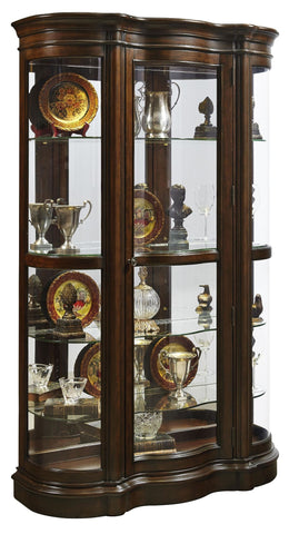 Curved Front Curio Cabinet from Carlton Home