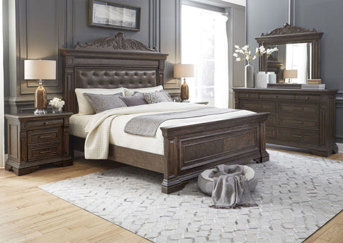 PULASKI Bedford Heights Upholstered Panel Bedroom Set
