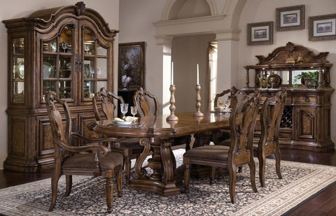 PULASKI San Mateo Double Pedestal Dining Room Set