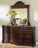 ASHLEY NORTH SHORE BEDROOM SET - DRESSER AND MIRROR