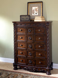 ASHLEY NORTH SHORE SLEIGH BEDROOM SET - CHEST