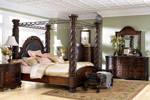 ASHLEY NORTH SHORE CANOPY BEDROOM SET