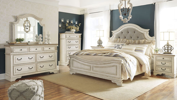 ASHLEY Furniture Realyn Upholstered Panel Bedroom Set
