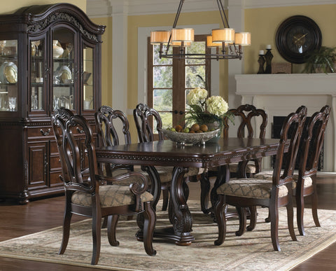 SAMUEL LAWRENCE San Marino Double Pedestal Formal Dining Room Set