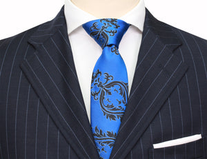 Mimi Fong Crest Tie in Royal