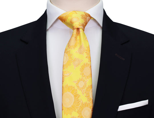 Mimi Fong Sunflower Tie in Yellow