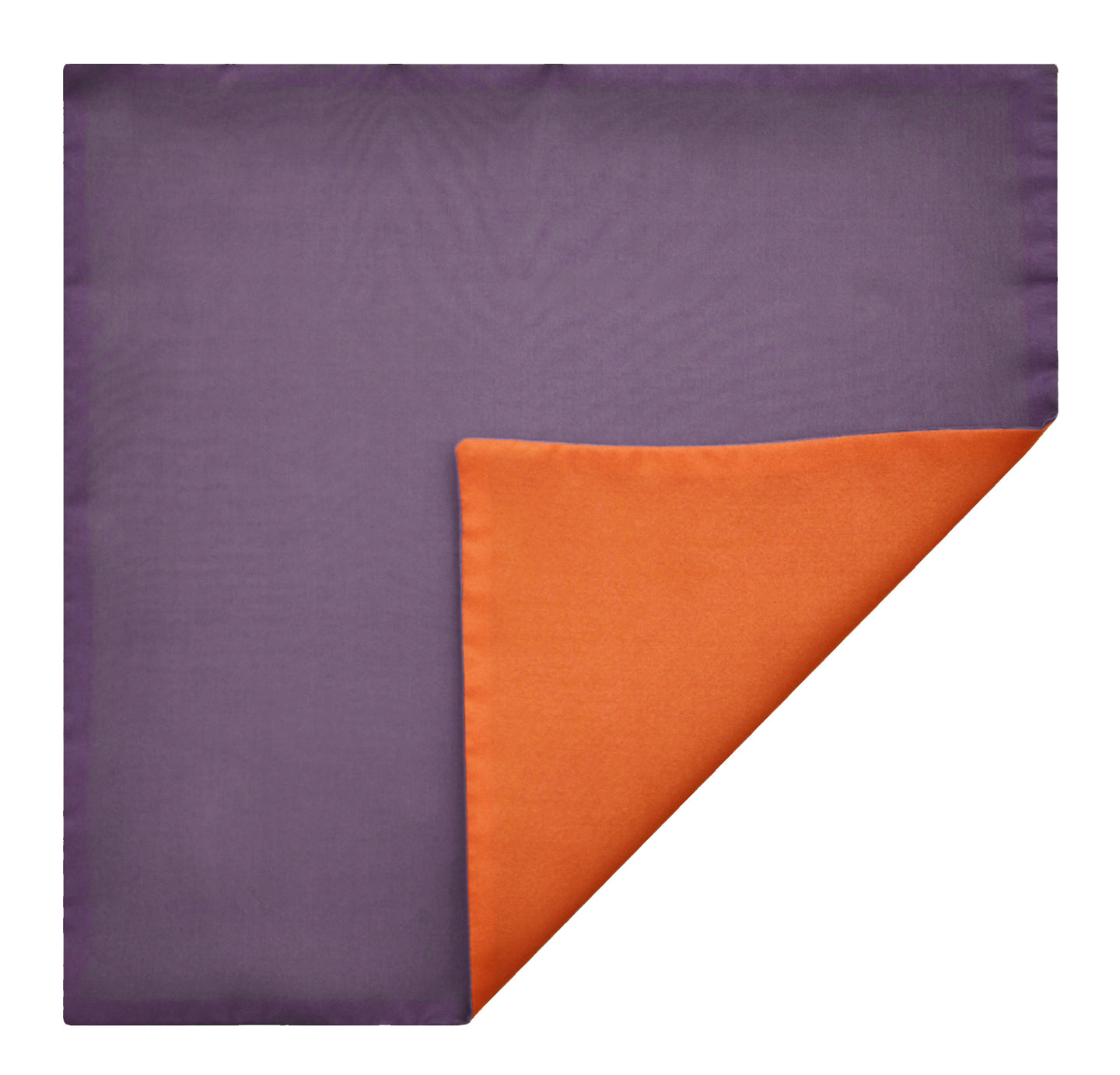 Mimi Fong Reversible Silk Pocket Square in Lavender & Orange