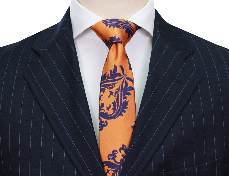 Mimi Fong Crest Tie in Orange
