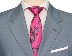 Mimi Fong Crest Tie in Pink