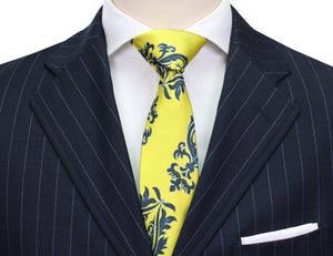 Mimi Fong Crest Tie in Yellow
