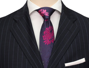 Mimi Fong English Garden Tie in Grape