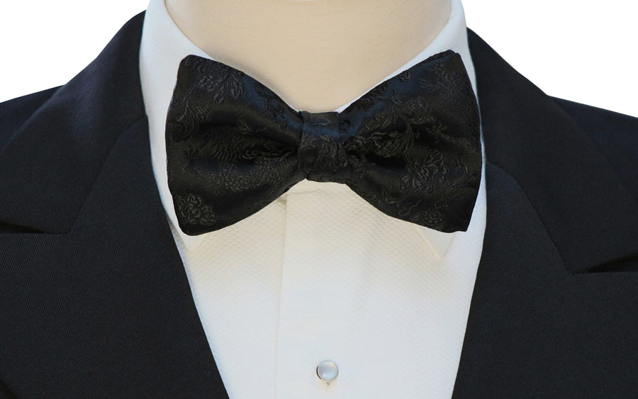 Mimi Fong Dragon Bow Tie in Black