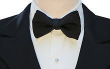 Mimi Fong Faille Bow Tie in Black