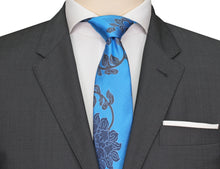 Mimi Fong Lotus Tie in Blue