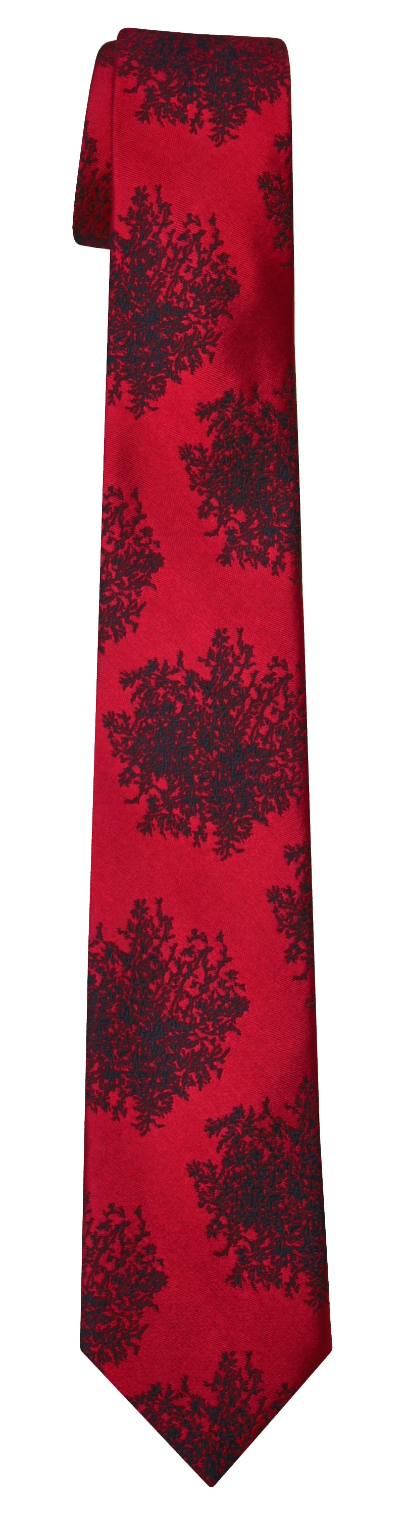 Mimi Fong Moss Tie in Red