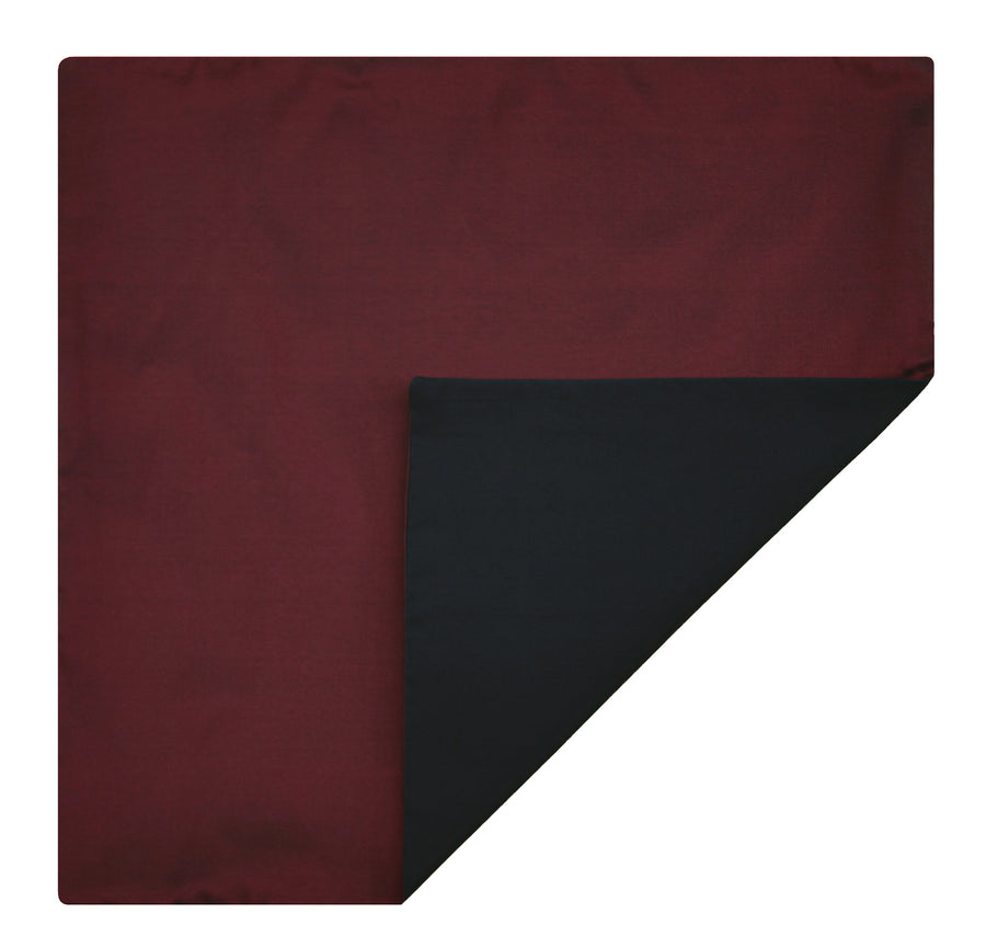 Mimi Fong Reversible Silk Pocket Square in Amaryllis & Black