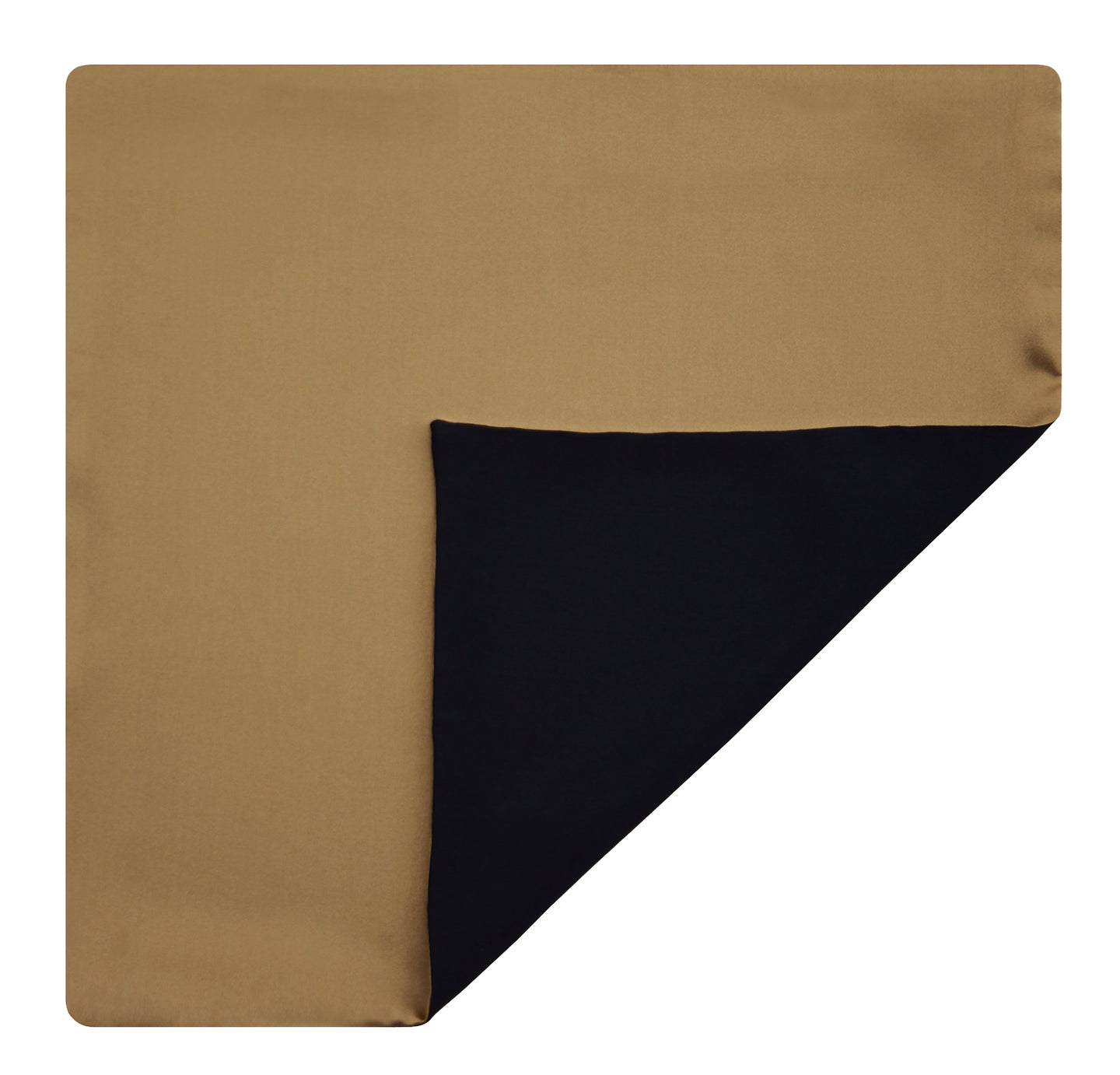Mimi Fong Reversible Silk Pocket Square in Gold & Black
