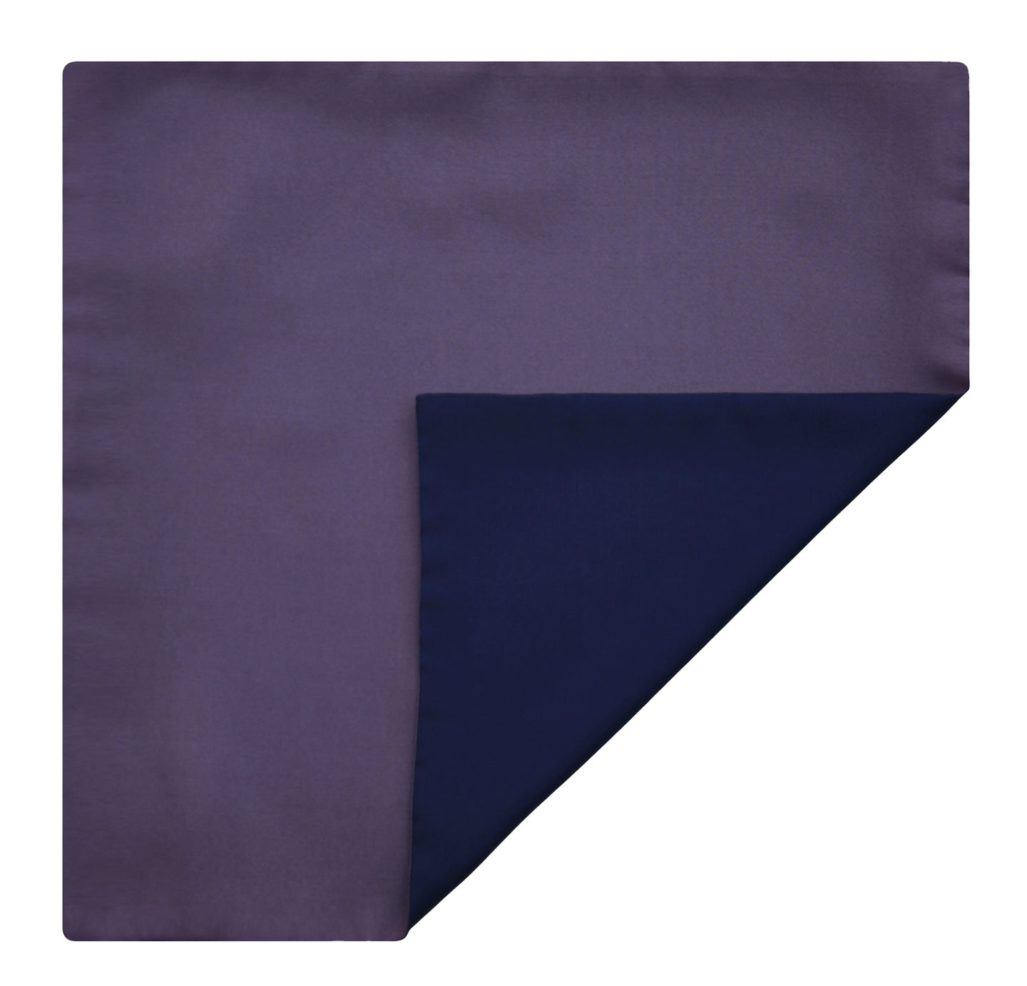 Mimi Fong Reversible Silk Pocket Square in Lavender & Navy