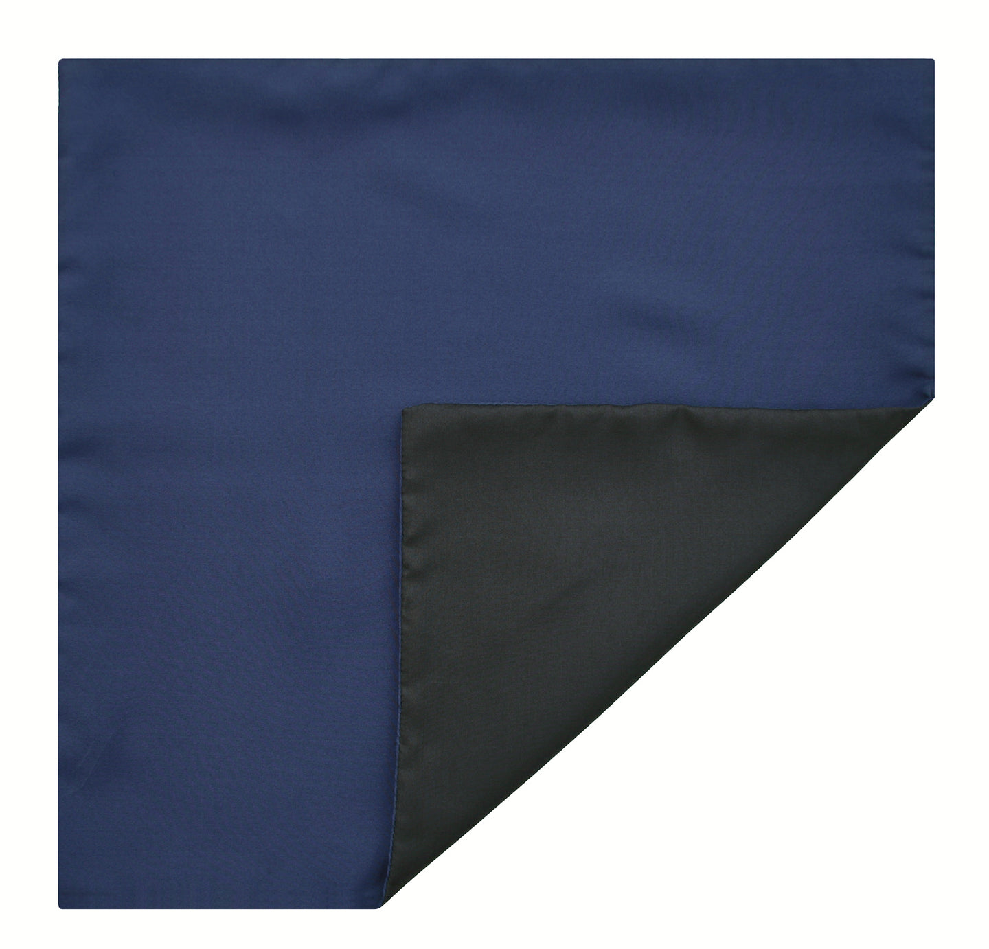 Mimi Fong Reversible Silk Pocket Square in Navy & Black