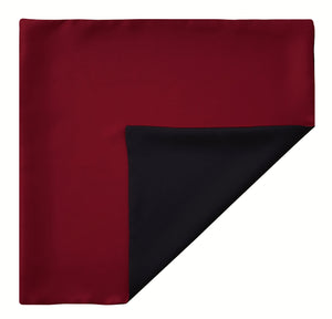 Mimi Fong Reversible Silk Pocket Square in Red & Black