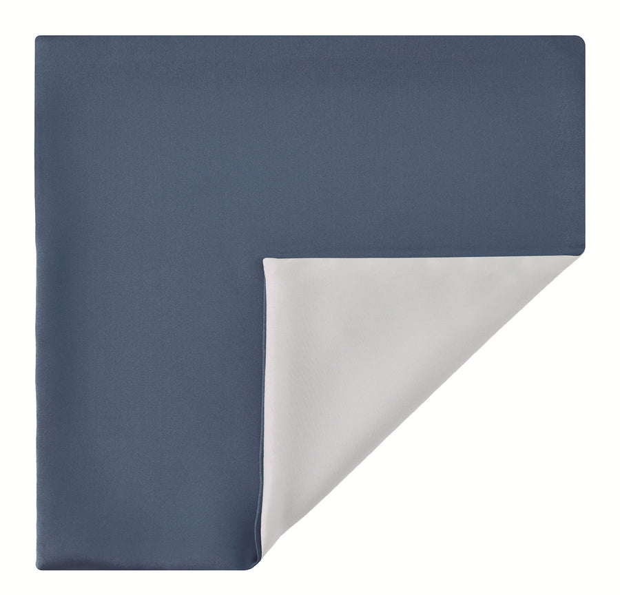 Mimi Fong Reversible Silk Pocket Square in Slate & White