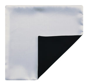 Mimi Fong Reversible Silk Pocket Square in White & Black