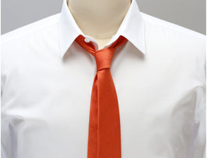 Mimi Fong Skinny Tie in Orange