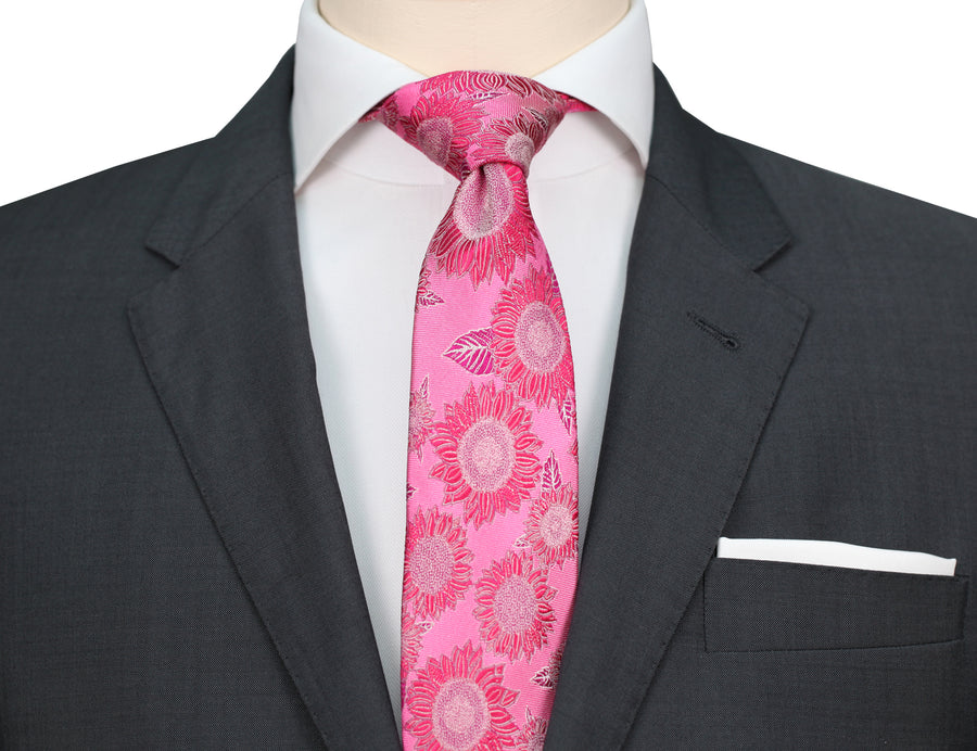 Mimi Fong Sunflower Tie in Pink