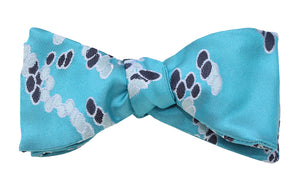 Mimi Fong Drops Self-Tie Bow Tie in Aqua