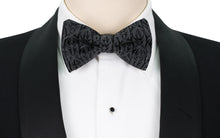 Mimi Fong Ivy Bow Tie in Black & Grey