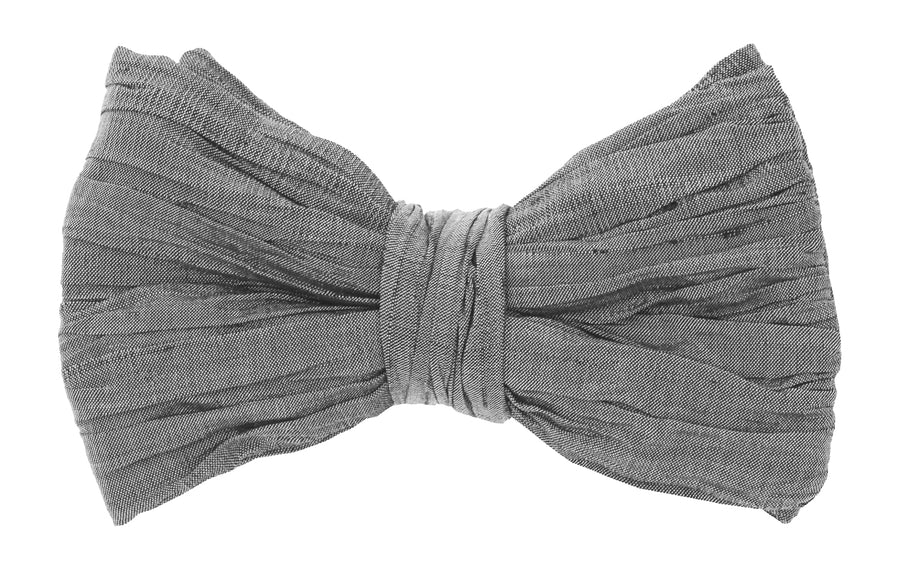 Mimi Fong Pleated Bow Tie in Charcoal