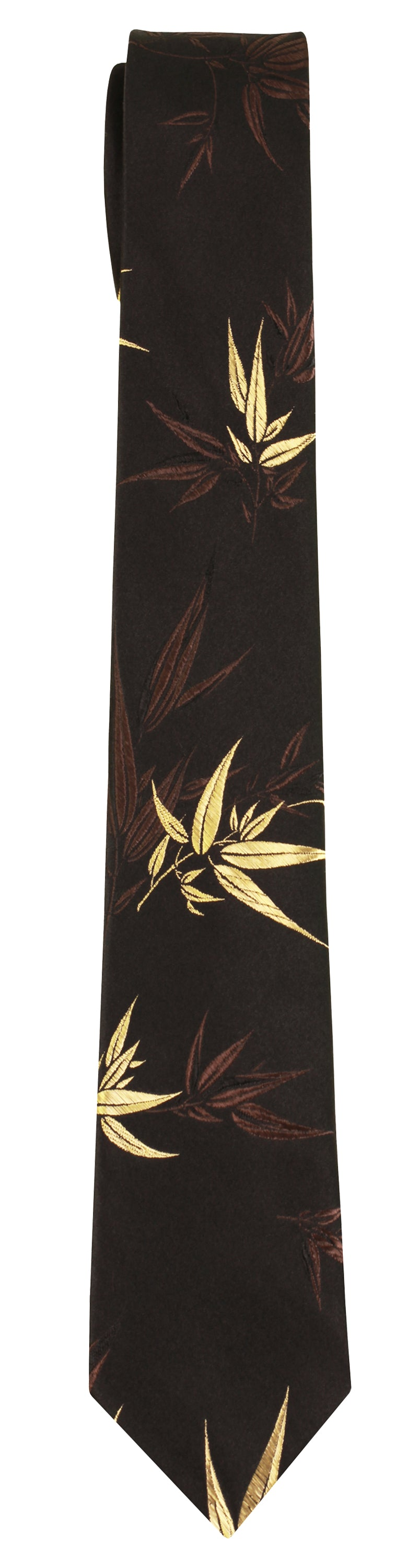 Mimi Fong Bamboo Tie in Black & Gold