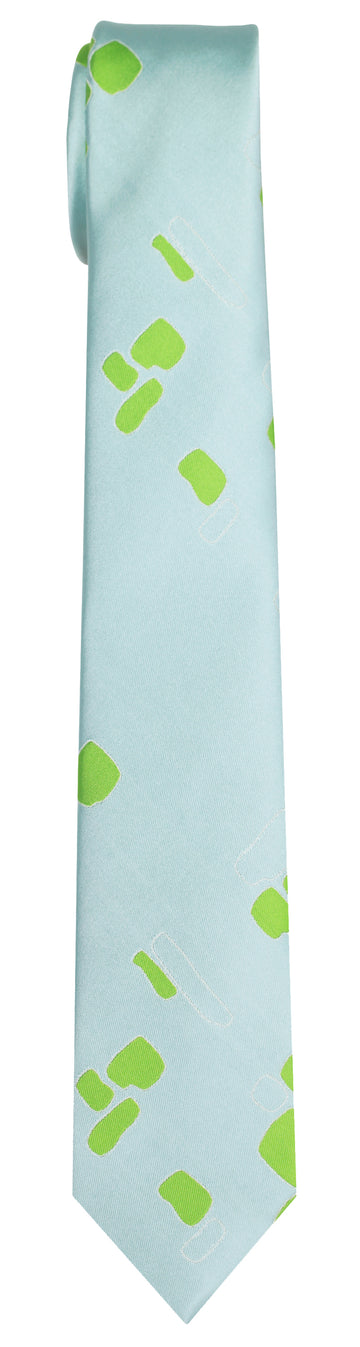 Mimi Fong Blocks Tie in Light Blue