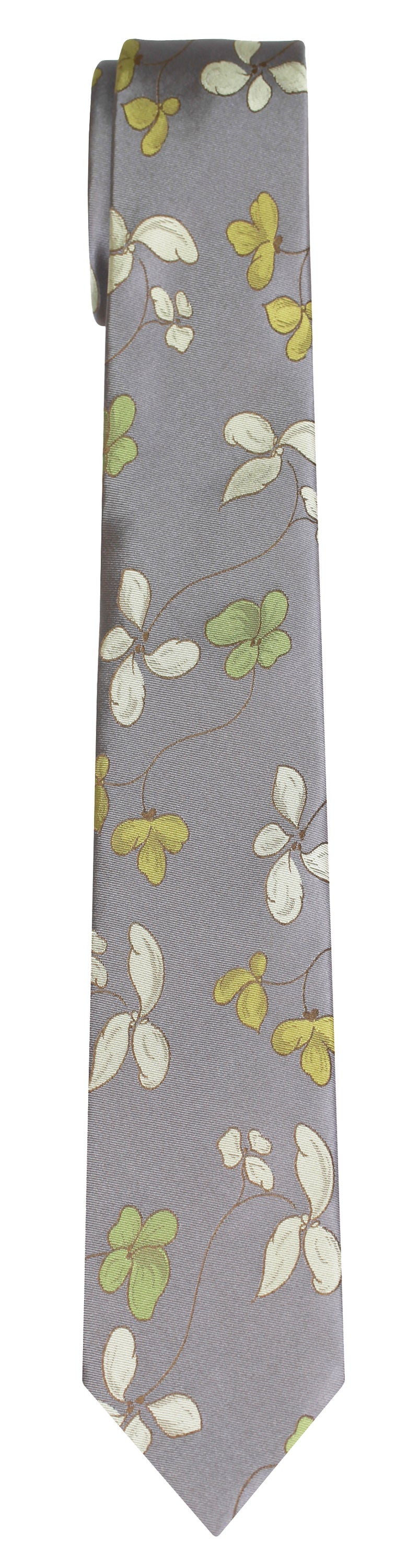 Mimi Fong Bloom Tie in Grey