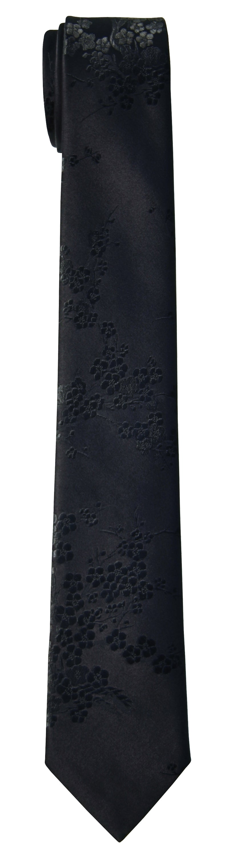 Mimi Fong Cherry Blossom Tie in Black