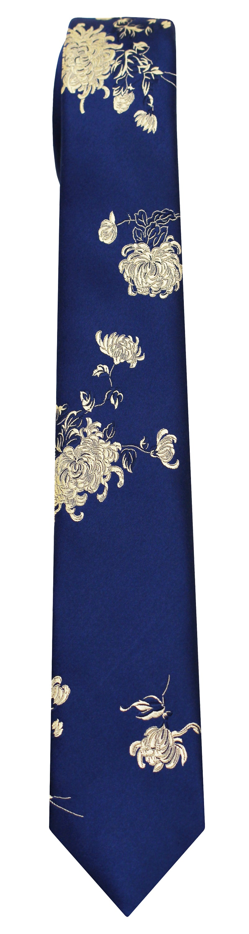 Mimi Fong Chrysanthemum Tie in Royal