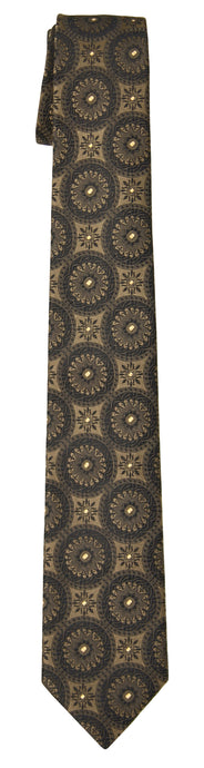 Mimi Fong Coin Tie in Black & Gold