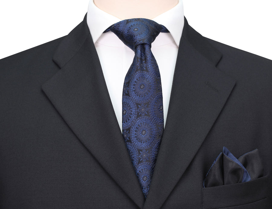 Mimi Fong Coin Tie in Navy