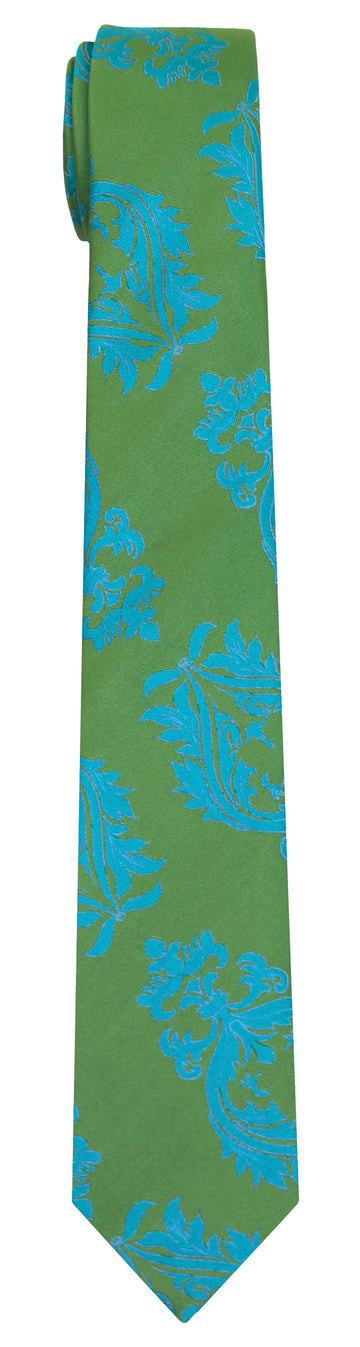 Mimi Fong Crest Tie in Green