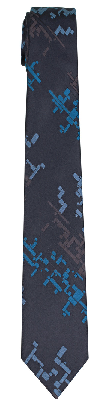 Mimi Fong Cubes Tie in Black
