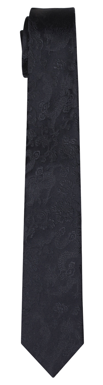 Mimi Fong Dragon Tie in Black