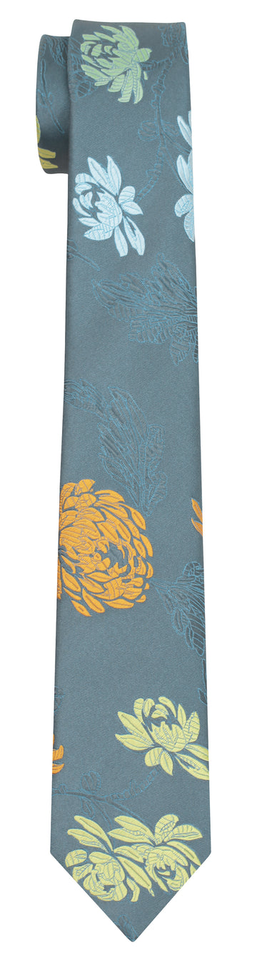 Mimi Fong English Garden Tie in Grey