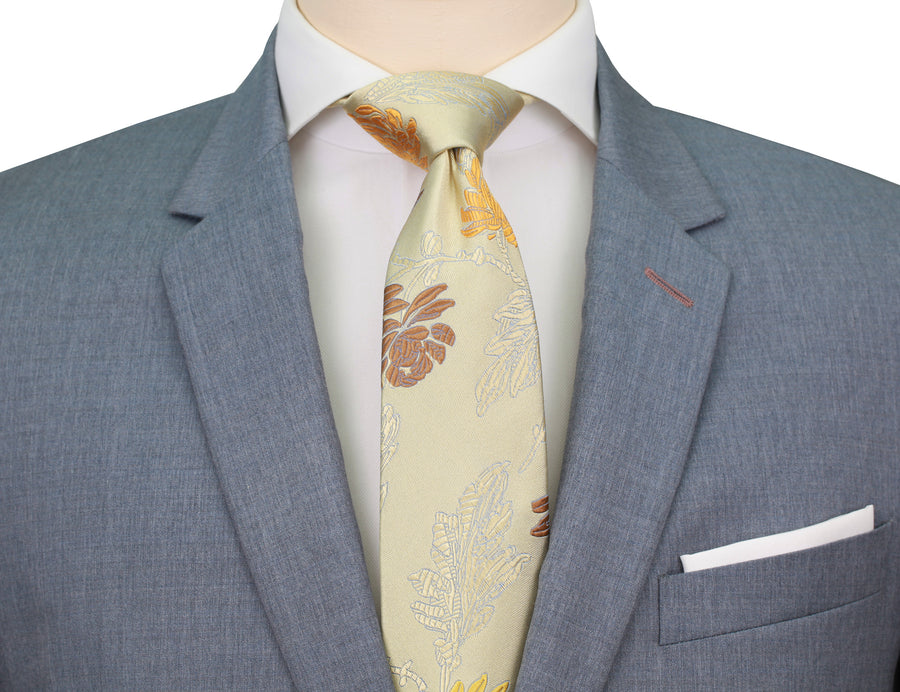 Mimi Fong English Garden Tie in Light Yellow