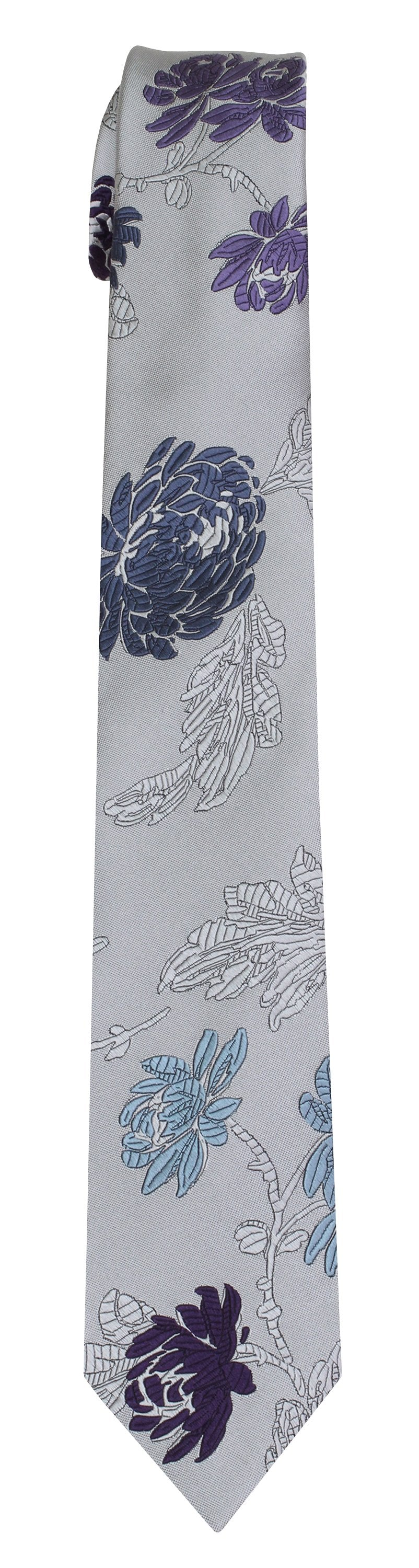 Mimi Fong English Garden Tie in Platinum