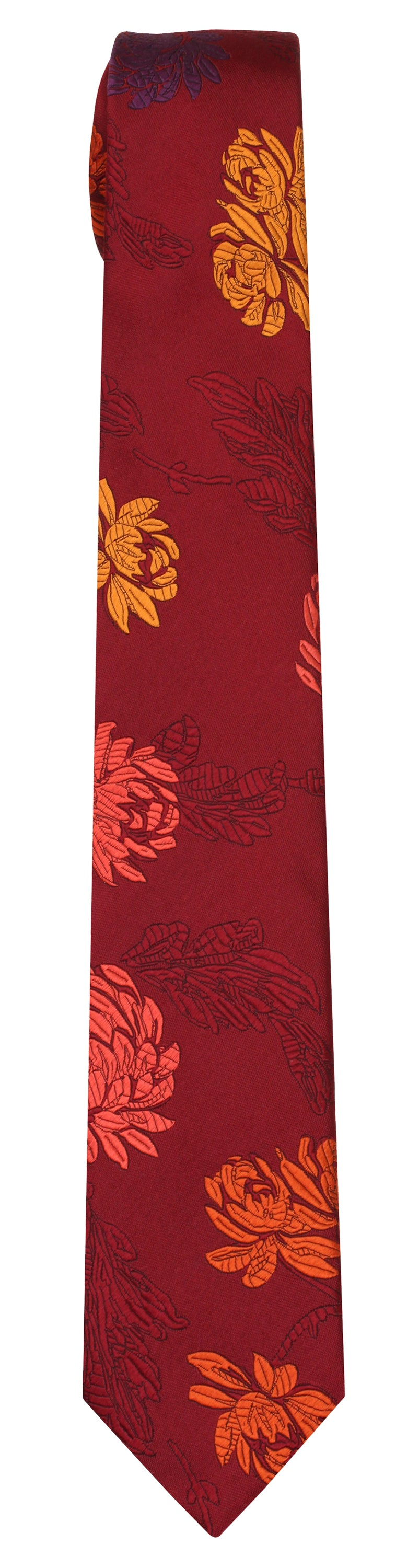 Mimi Fong English Garden Tie in Wine
