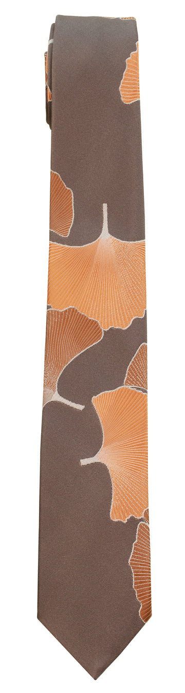 Mimi Fong Ginkgo Tie in Brown