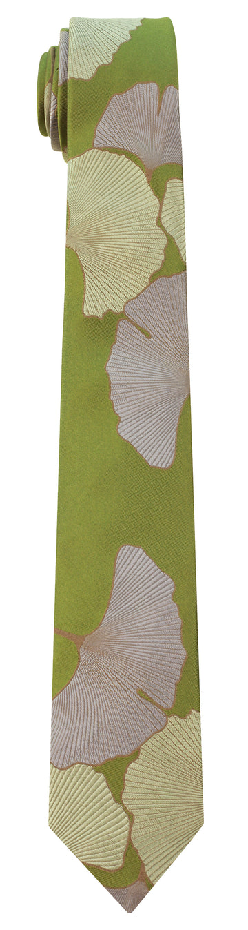 Mimi Fong Ginkgo Tie in Green Tea