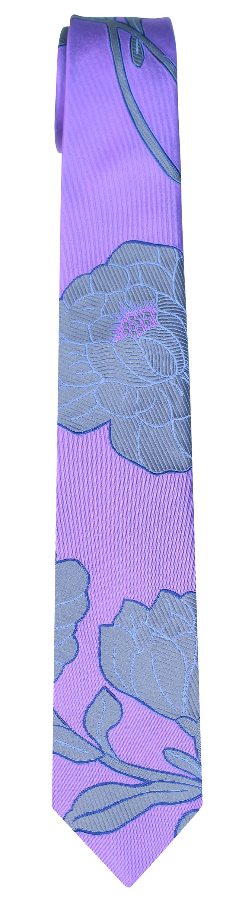 Mimi Fong Large Flower Tie in Lavender